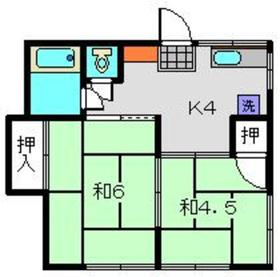 北新横浜駅 徒歩26分2階Fの間取り画像