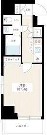 ヴェルト川崎イースト12階Fの間取り画像