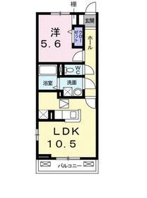 ウェルバ-ド高島平1階Fの間取り画像