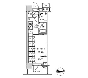 パークアクシス辰巳ステージ5階Fの間取り画像