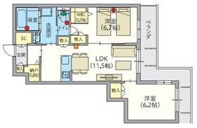 へーベルVillage万願寺3階Fの間取り画像