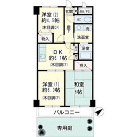 ヒルサイドテラス東寺尾1階Fの間取り画像