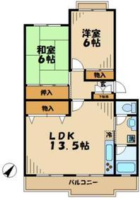 アライズ2階Fの間取り画像