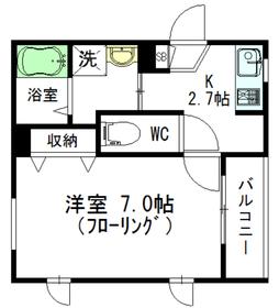 ミリュドゥ夏目坂3階Fの間取り画像