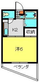 ビューフラット磯子1階Fの間取り画像
