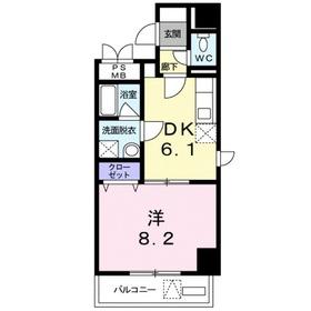 アルビレオ志木3階Fの間取り画像