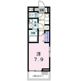 ミニョンダンジュ22階Fの間取り画像