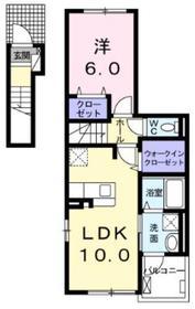 ファッシーナ2階Fの間取り画像