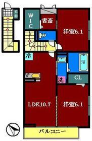 仮)D-room鷺沼台2階Fの間取り画像