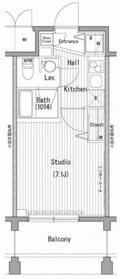 ガーラ・プレシャス横濱関内2階Fの間取り画像