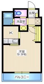 メゾンルジャルダン1階Fの間取り画像