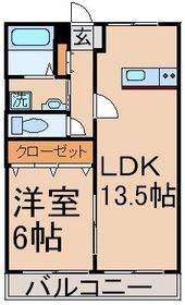昭島駅 徒歩19分1階Fの間取り画像
