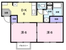 エリアール2階Fの間取り画像