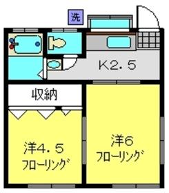 和田町駅 バス10分「富士見橋東」徒歩1分1階Fの間取り画像