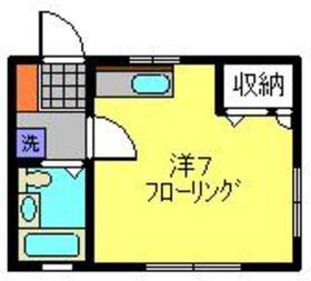 カセータ2階Fの間取り画像