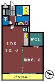 アベニューサイド本郷1階Fの間取り画像