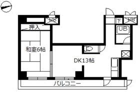 スカイコート八王子第31階Fの間取り画像