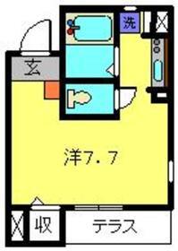 オメガパレス3丁目1階Fの間取り画像