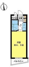 スカイコート桜新町2階Fの間取り画像