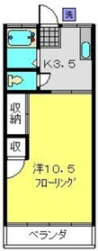 日吉本町駅 徒歩5分2階Fの間取り画像