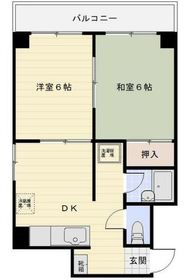 ベルハウス伊勢佐木3階Fの間取り画像