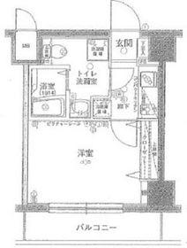 グリフィン横浜・戸部駅前4階Fの間取り画像