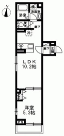ヴィラクレール2階Fの間取り画像