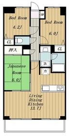 愛甲石田駅 車8分2.9キロ3階Fの間取り画像