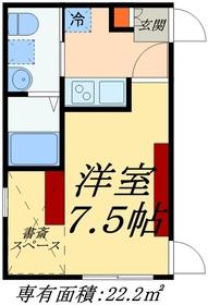 東小岩peace-cubeⅢ1階Fの間取り画像