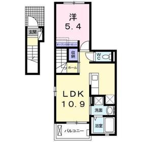 北野駅 徒歩12分2階Fの間取り画像