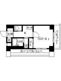 スカイコート本郷東大前壱番館15階Fの間取り画像