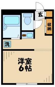 読売ランド前駅 徒歩8分2階Fの間取り画像