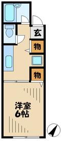 ホープヒルハウス1階Fの間取り画像