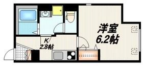 L'amitie Kitasenjyu2階Fの間取り画像