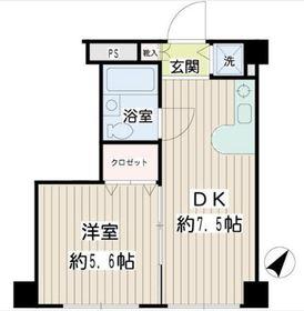 二俣川YSマンション2階Fの間取り画像