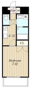 神興アルファビル7階Fの間取り画像