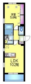 ディア メゾン3階Fの間取り画像