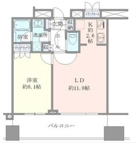 東京タイムズタワー9階Fの間取り画像