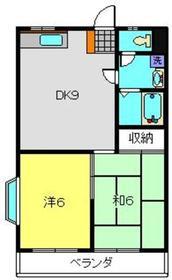 関口マンション3階Fの間取り画像