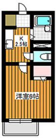 サザンクレール2階Fの間取り画像