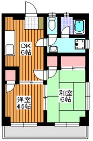 菊地第一マンション3階Fの間取り画像