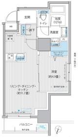 グラン,フォークス神田イーストタワー11階Fの間取り画像