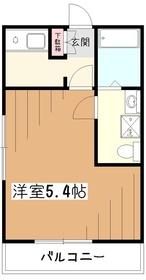 押本ハイツ2階Fの間取り画像