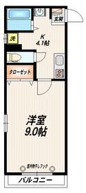 蒲田駅 バス15分「北糀谷」徒歩4分3階Fの間取り画像