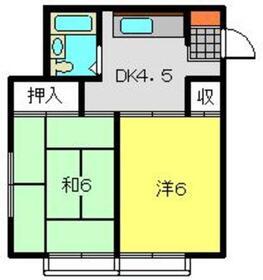 第10むさしマンションⅡ2階Fの間取り画像