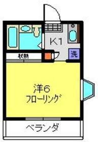 ファミール和田2階Fの間取り画像