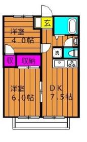 アメニティハイツ Ⅱ1階Fの間取り画像