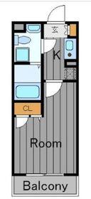 サニーサイドウエスト1階Fの間取り画像