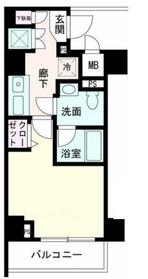 ルクシェール横濱生麦6階Fの間取り画像