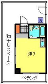 ベルメゾン弘明寺4階Fの間取り画像